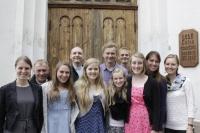Izdales komanda projekta noslēguma dievkalpojumā Talsu luterāņu baznīcā