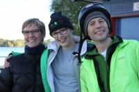 Pelēču-Johnson ģimene. Komandas palīgi: Kevin un Marita (vidū). Foto: Edija Banka-Demandta